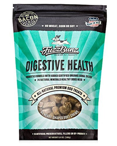 Probiotic Dog Treats - Gluten-Free & GMO-Free - Made in USA Only - Veterinarian Formulated with Organic Coral Calcium