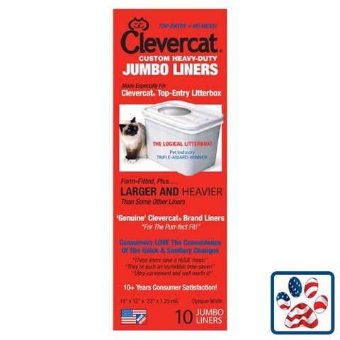 Clevercat Jumbo Liners for Clevercat Top Entry Litter Box, 10-Pack