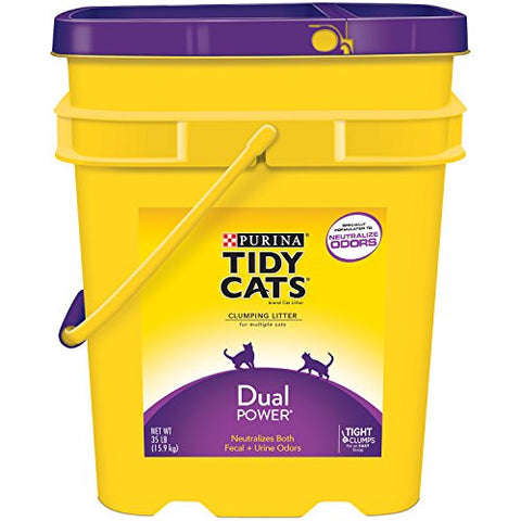 Purina Tidy Cats Dual Power Cat Litter - (1) 35 lb. Pail