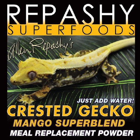 Repashy Crested Gecko MRP Diet - Food 'Mango' Superblend - All Sizes - 6 Oz JAR