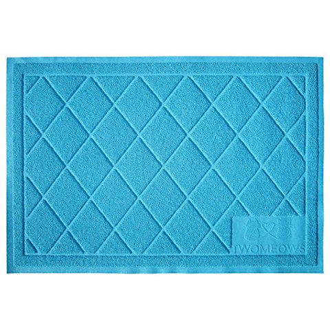 Two Meows Litter Mat / Extra Large / Aqua Blue