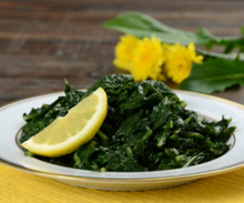 Dandelion Greens with Preserved Lemons