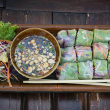 PRETTY-ON-THE-INSIDE PEA SHOOT AND MINT-BASIL SUMMER ROLLS