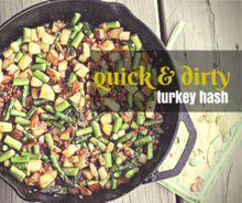 Quick & Dirty Turkey Hash