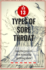types of sore throats