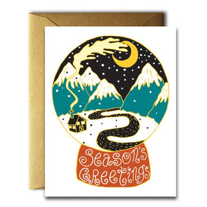 Season's Greetings Globe Card