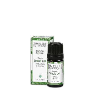 Simplers Botanicals Organic Sinus Oil Essential Oil Blend