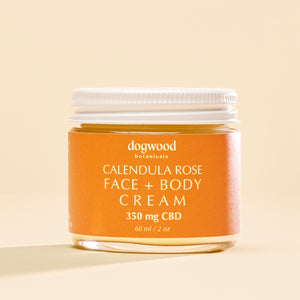 Dogwood Botanicals Calendula Rose Face + Body Cream