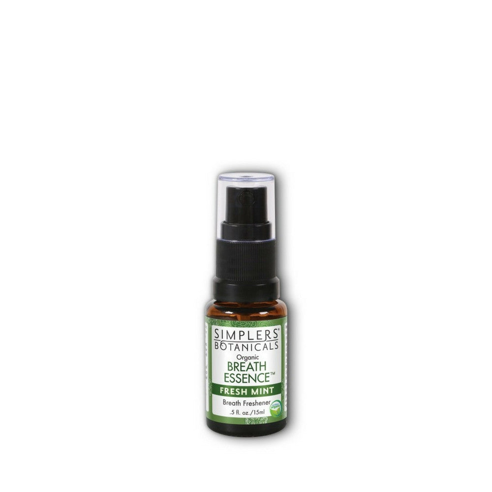 Simplers Botanicals Organic Breath Essence Fresh Mint Essential Oil Blend