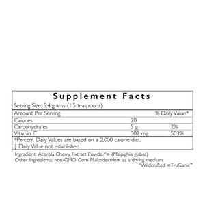 HealthForce Truly Natural Vitamin C ingredients