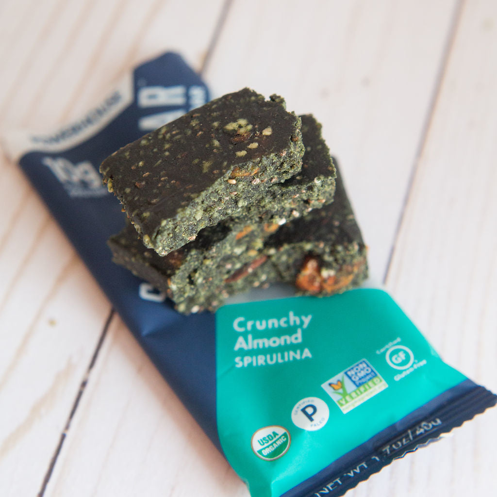 shanti bar Power House: Crunchy Almond Spirulina