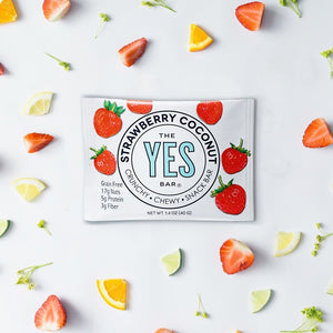 the yes bar strawberry coconut