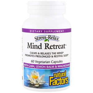 natural factors stress relax mind retreat