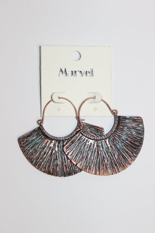 Textured Fan Drop Earrings