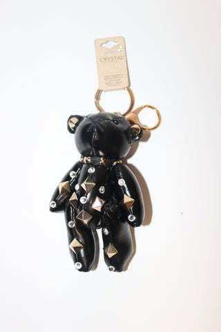 Studded Teddy Bear Key Chain
