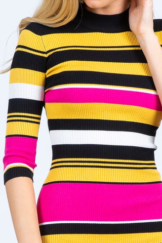 Lena Turtle Neck Sweater Dress