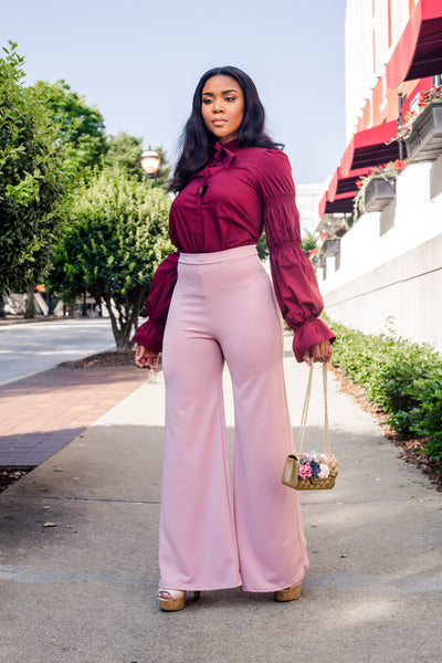 Tiffany Blush Wide Legs Pants