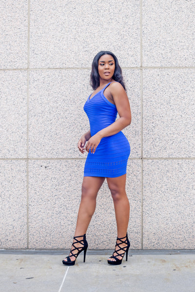 Ryan Cobalt Blue Bodycon Dress