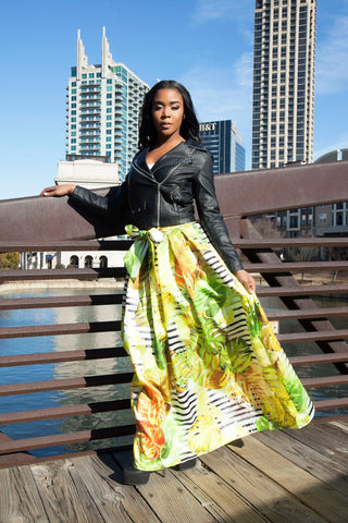 Phaedra Yellow Maxi Skirt