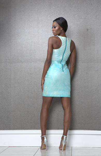 Jada Blue Leather Dress