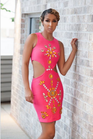 Angela Jeweled Bodycon Dress