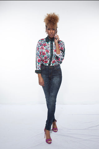 Solange Floral Button Down