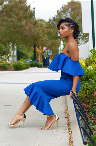 Charlotte Off The Shoulder Ruffle Bodcon Dress