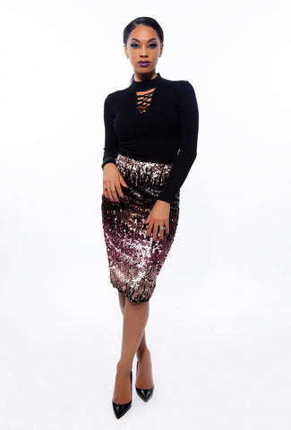 Keyshia Multi Sequin Skirt