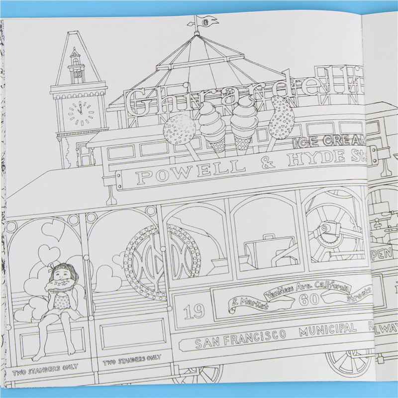 time travel colouring book stress gone