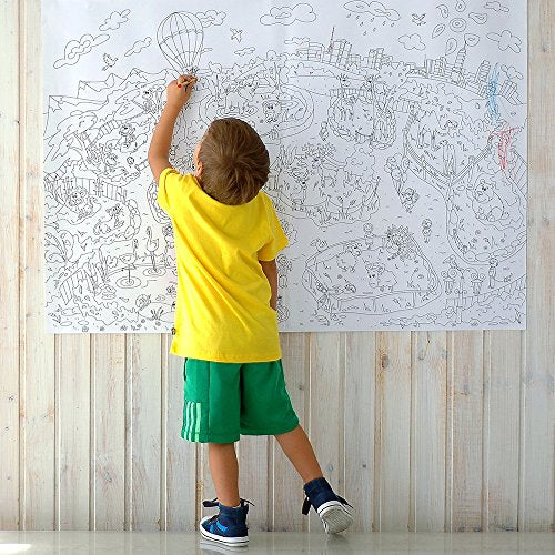 Mega Kids Colouring Poster