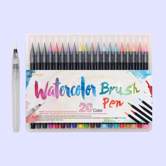 20 Soft Brush Watercolour Set