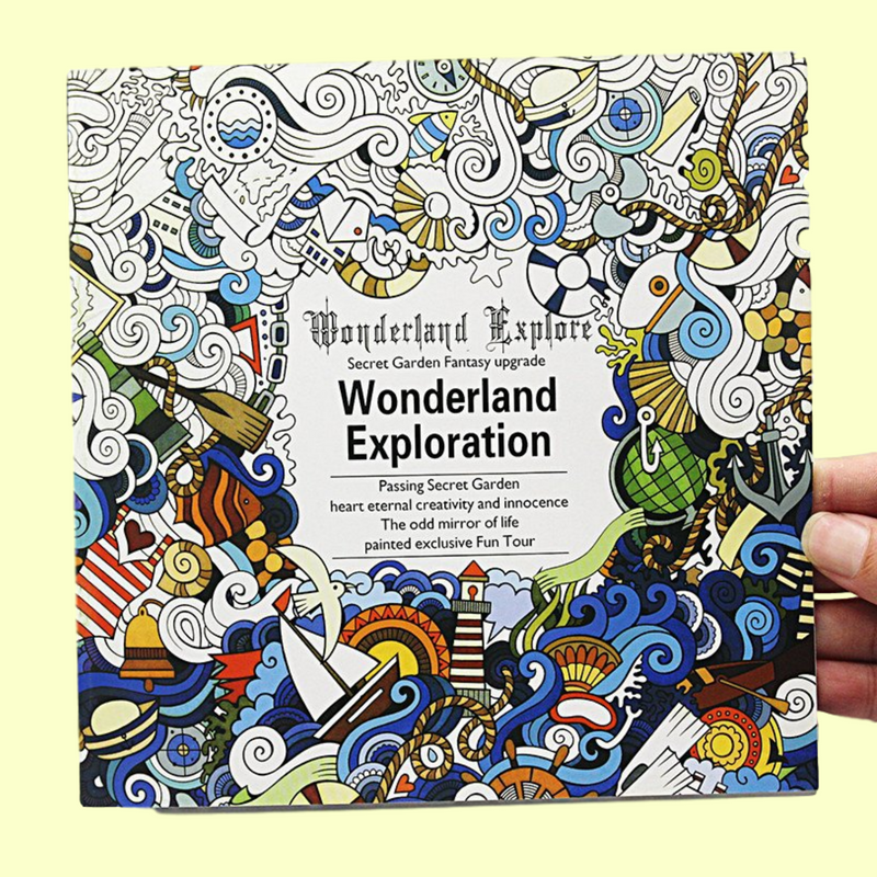 Wonderland Exloration Colouring Book