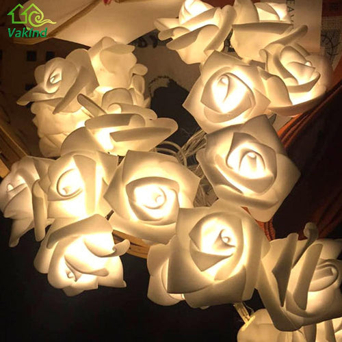 1.2m 10 LED Flower Rose Fairy String Lights