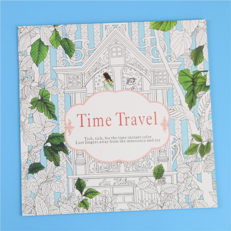 Time Travel Colouring Book