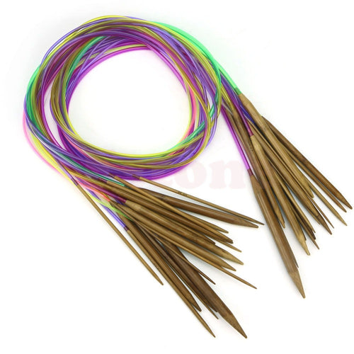 18Pcs Bamboo Knitting Needles