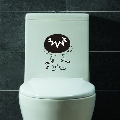 Waterproof Decal For Toilet Boy