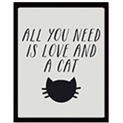 Cat Love Quote Wall Print