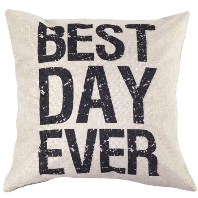 Best Day Ever Cushion Cover