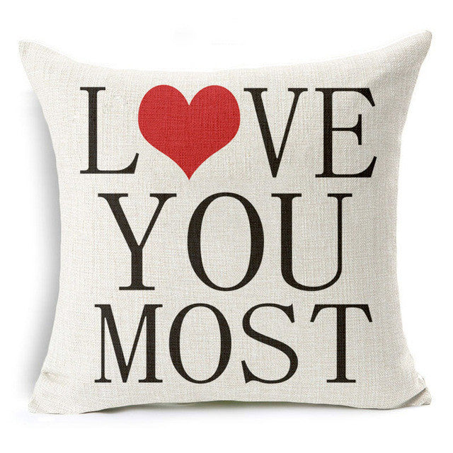 Love You Most Pillow Cover