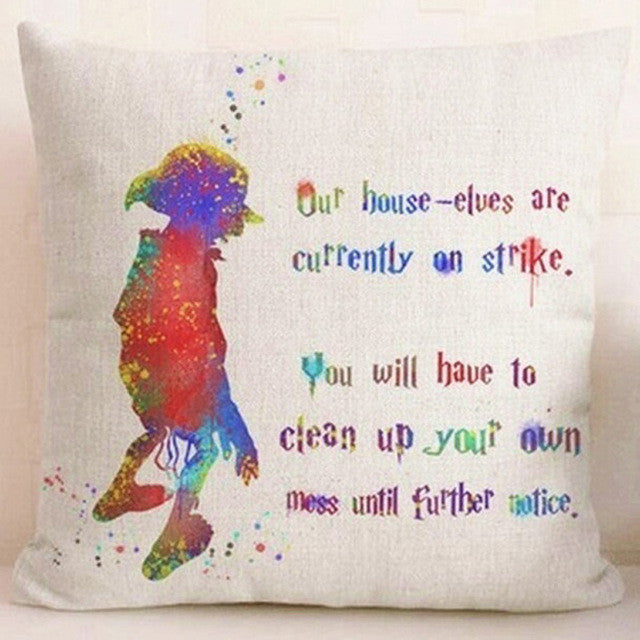 Dobby House Elf Quote Cushion Cover