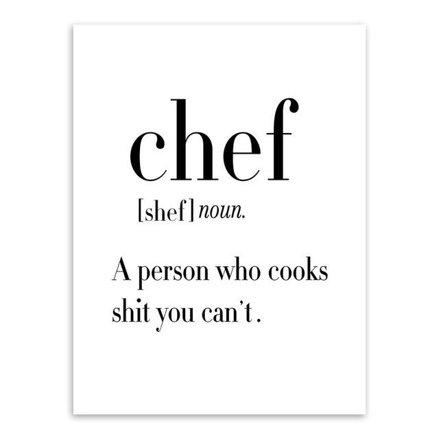 Chef Quotes Beauteous Minimalist Black White Chef Quotes No Frame Stress Gone