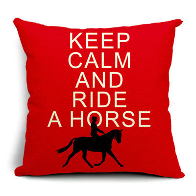 Keep Calm & Ride A Horse Cushion Cover
