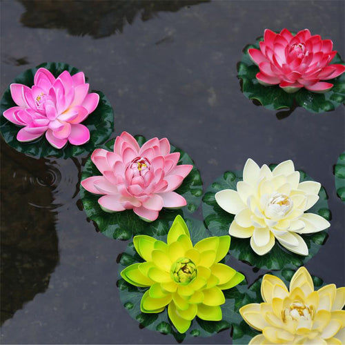 Fake Lotus Flower Floating Pool Plants