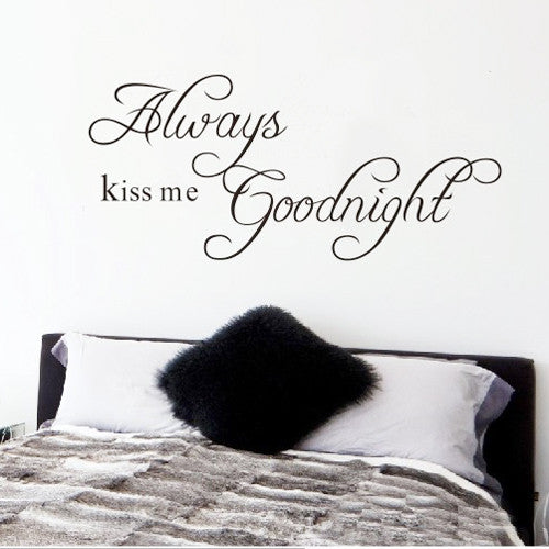 Always Kiss Me Goodnight Removable Wall Art