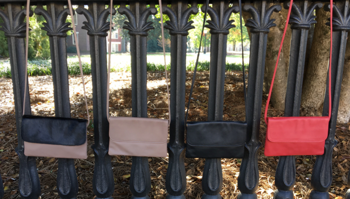 The Theresa, our clutch handbag, now comes with or without a strap and at a reduced price point!