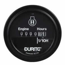 DURITE CIRCULAR ENGINE HOUR COUNTER