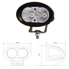 Durite 1000 Lumens 10-60V LED Work Lamp
