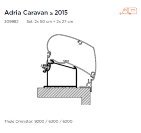 THULE AWNING ADAPTER FOR ADRIA CARAVAN >2015