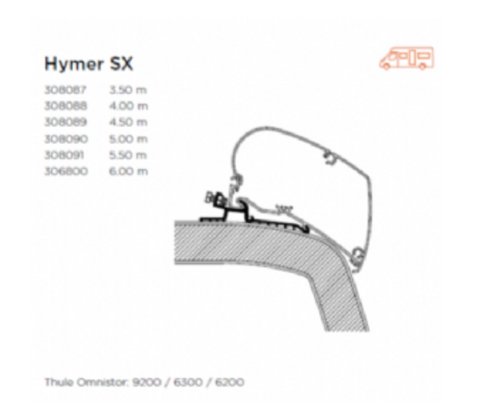 AWNING ADAPTER FOR HYMER SX