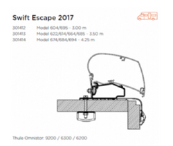 AWNING ADAPTOR FOR SWIFT ESCAPE